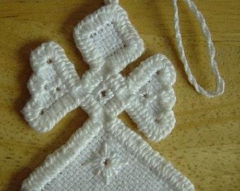 Mini White Hardanger Angel