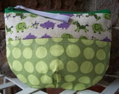 Smiling Safari Pouch Bag. 4.75 x 6 inches. no. 27.  pouch bag clutch