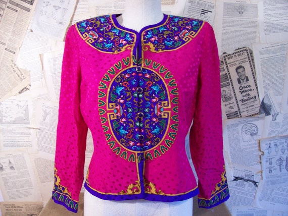 Vibrant Silk Jacket by Papell