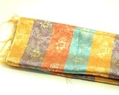 Fabric Brocade Stash Oriental Satin Emerald Green Gold Medium Weight Coin Purse