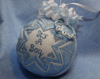 Quilted keepsake Ornament  It's A Boy
