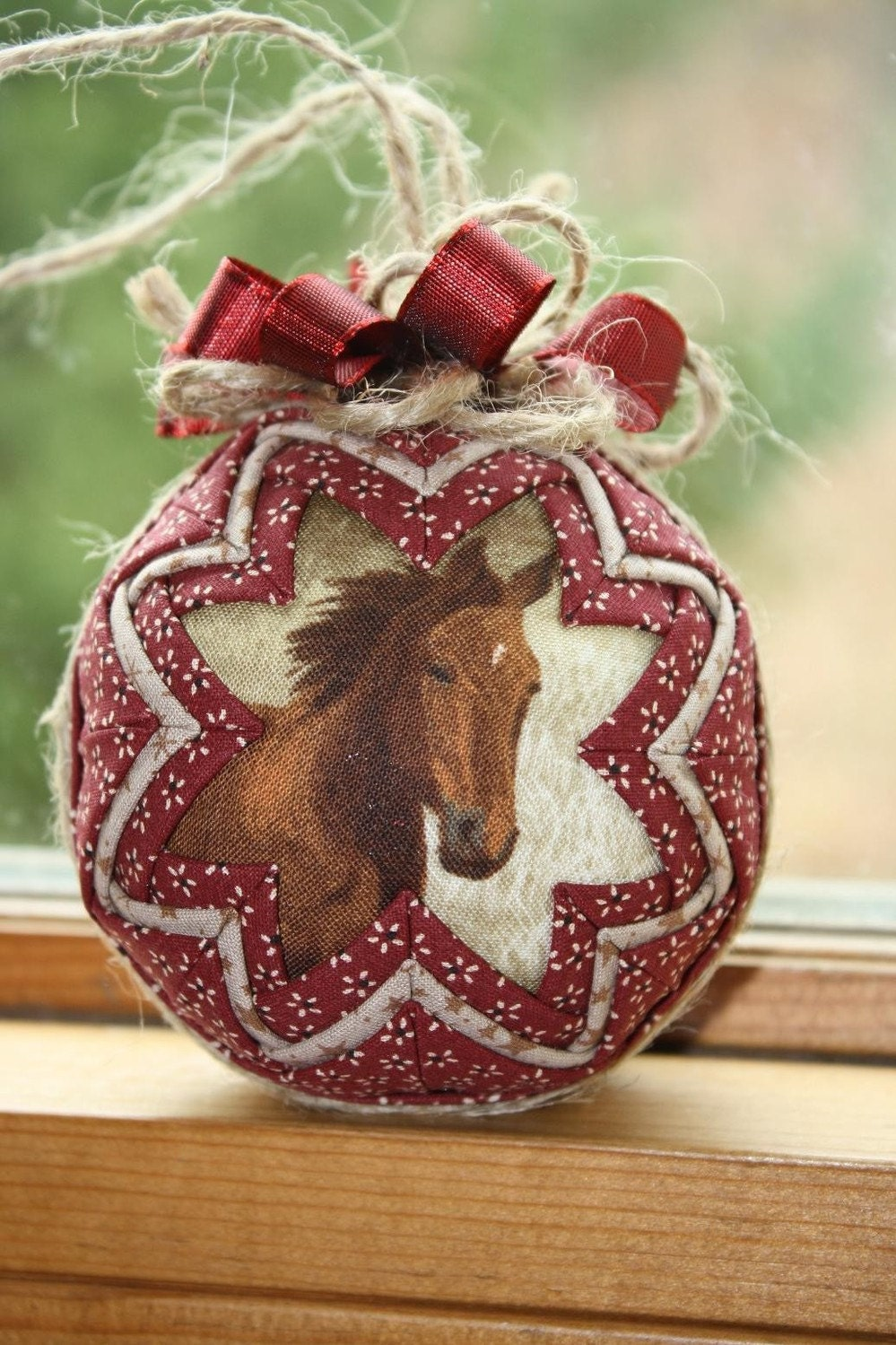 Horse Lover's Quilted Christmas Ornament