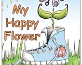 Coloring and Activity Book For Children - Printable PDF - My Happy Flower