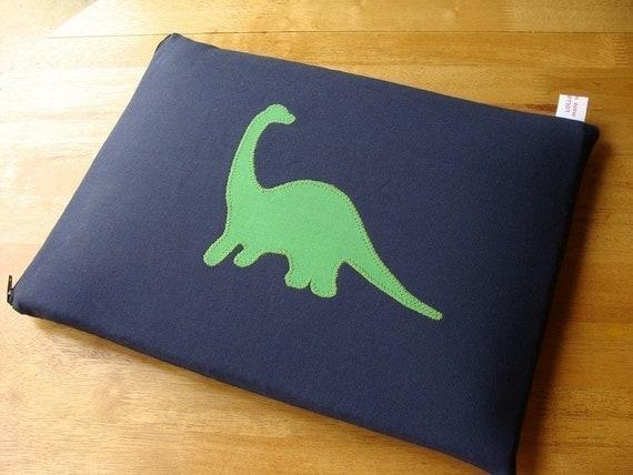 Green Dino Laptop Sleeve - 13-inch Macbook Pro or CUSTOM SIZE