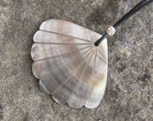 Nursing Necklace - Shell Fan with sterling silver bead