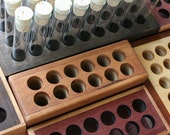 Beautiful 12-Item Wooden Block Spice\/Storage Rack - Your Choice of Maple, Cherry or Walnut