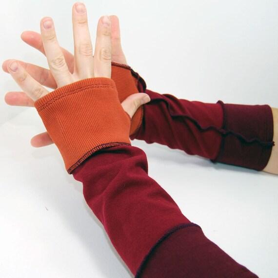 Arm Warmers Volcano Segmented Sleeves (Fingerless Gloves)