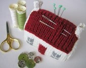 Mini Red Roof Croft House Knitting Pattern