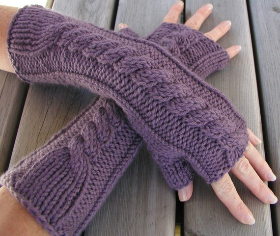 PDF Knitting Pattern Fingerless Gloves Hand and Arm Warmers