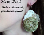 Reserved-- Drama Queen (( statement earrings )) boudoir beautiful, silk, vintage laces.....