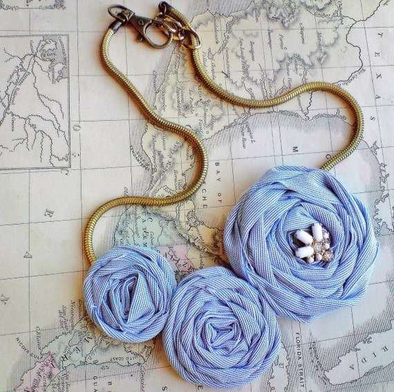 Simply Flora (( Rosette Fabric Necklace )) An everyday necklace...You choose the fabric...available until Aug. 28th