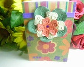 Handmade Bright Colorful Flower Greeting Card