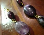 Amethyst purple dangle earrings