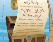 Pirate Party - Custom Photo Birthday Invitation for any Age
