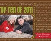 Top Ten - Custom DIGITAL Photo Christmas New Years Holiday Card