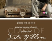 Simply Classic - Custom Photo Graduation Open House Invitation or Announcement
