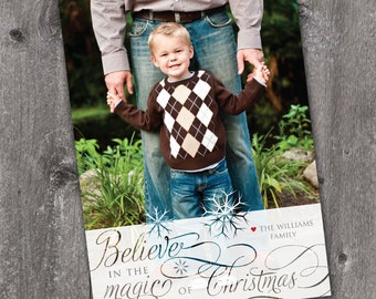 Magic of Christmas - DIGITAL Custom Christmas Holiday Photo Card