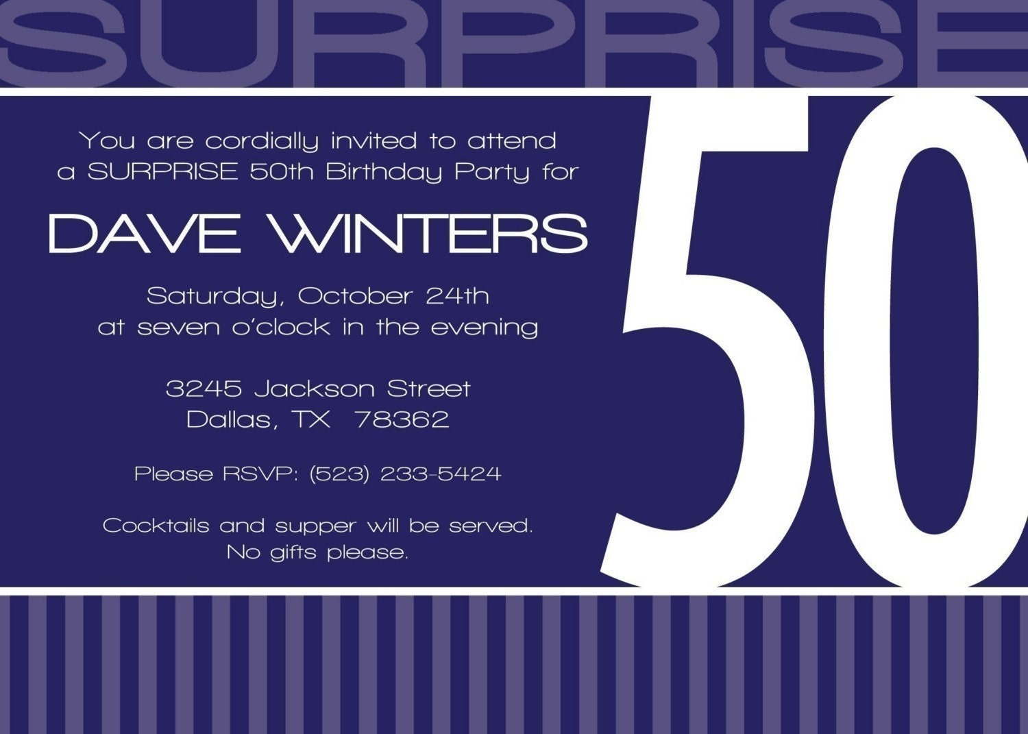 Surprise 50Th Birthday Party Invitations with great invitation ideas