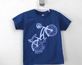 Toddler t-shirt Bike That's How I Roll organic cotton screen printed 2T 4T 6T bicycle t-shirt