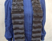Faux fur Brown Chic Scraf fits all Gift Warm winter days