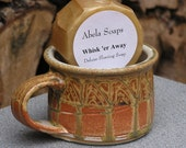 Natural Men's Shave Set with Pottery Shaving Mug- Copper