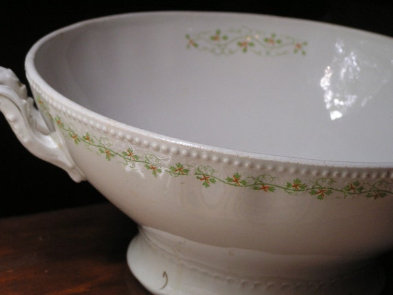 Vintage Grindley Tureen Perfect for Hoiday Table or Spring Bulbs