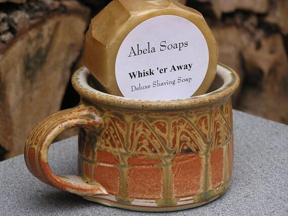 Natural Men's Shave Set with Pottery Shaving Mug- Copper