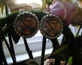 Frita Khalo Bottle Cap earrings