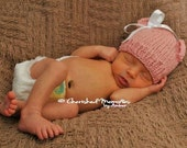 Baby Teddy Bear Ears Hat Beanie With or Without Bow               100 Percent Organic Cotton          Pick 1 of any color combo available