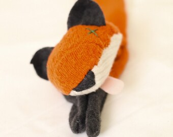 Custom Cashmere Animal Faux Taxidermy scarf- one of a kind
