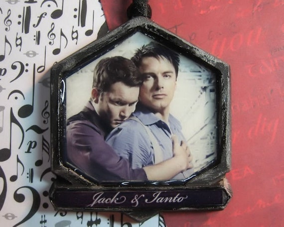 Torchwood Jack Harkness and Ianto Ornament