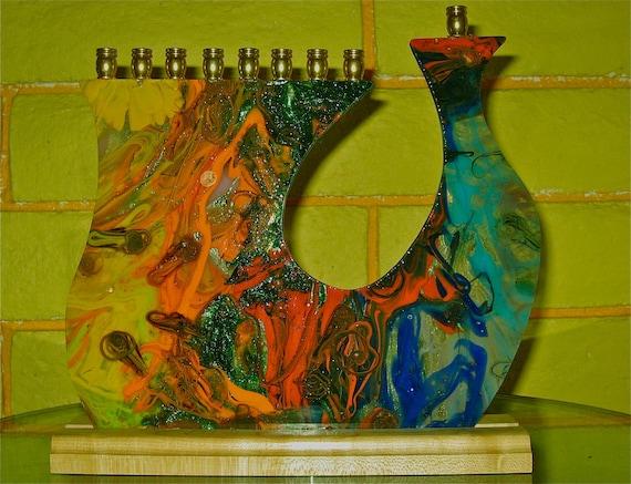 Multi -color menorah