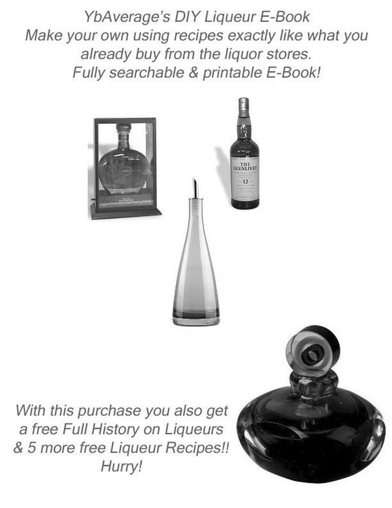 DIY E-Book to Make your OWN Liqueurs Tia Maria Kalhua You Name it and its Here for you Instant download
