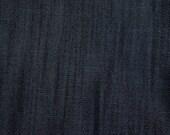 Denim 3 yard Indigo Dark cotton fabric 9 oz- Back to School sale