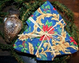 CHRISTMAS COASTER IN CHRISTMAS TREE SHAPE