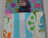 Guatemalan Worry Doll in Sleeping Pouch in Springtime Colors 14