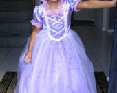 Rapunzel/Tangled Handmade Dress/Gown/Costume Size 2t-5