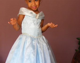 Beautiful, Baby Blue,  Princess Dress for Girl Sizes Reserved listing