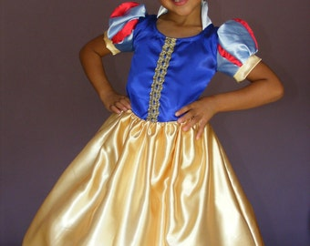 Snow White Costume for Girl Sizes 6,7,8,9