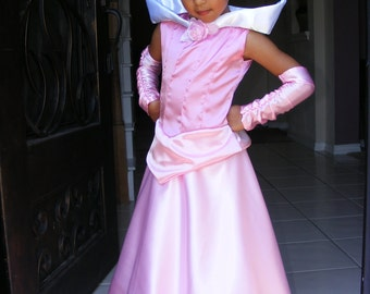 Sleeping Beauty, Princess Aurora Dress/Costume for Little Girl Sizes 6,7,8.9
