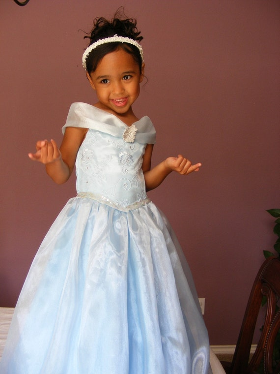 Beautiful, Baby Blue,  Princess Dress for Girl Sizes 2t -5