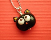 Black Kitty Cat Necklace