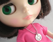 Personalized  Metal Stamped Blythe Necklace