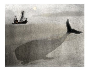 Whale and a boat