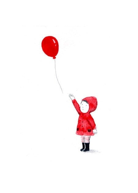 Red Balloon Limited Edition Print Number 5 50 By Yoote On Etsy