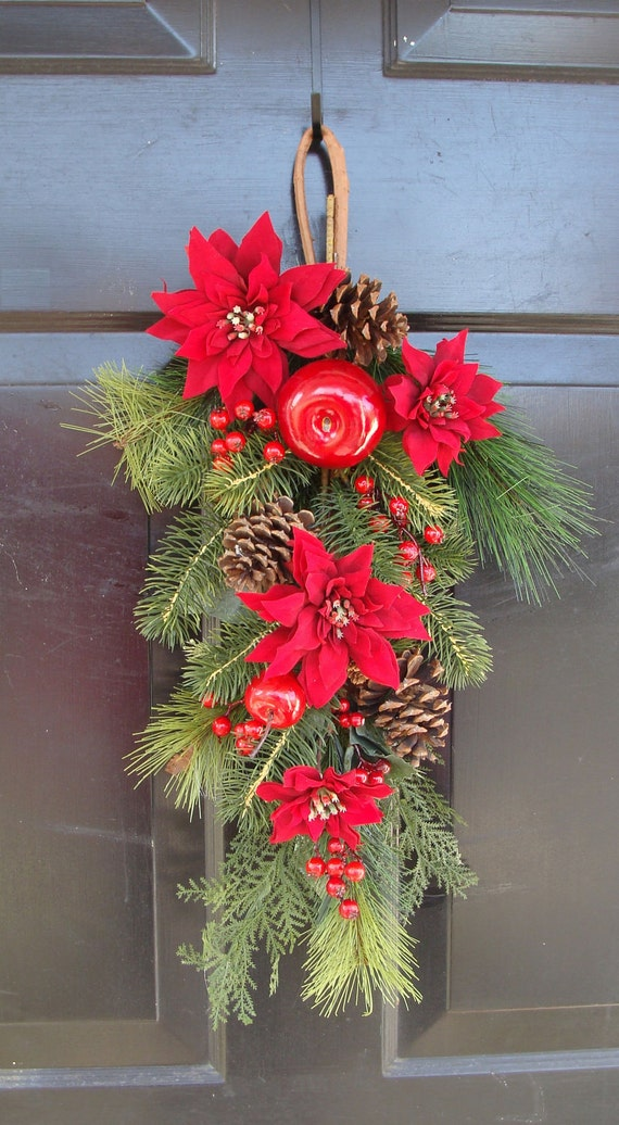 Christmas Swag Wreath Alternative Front Door Swag With