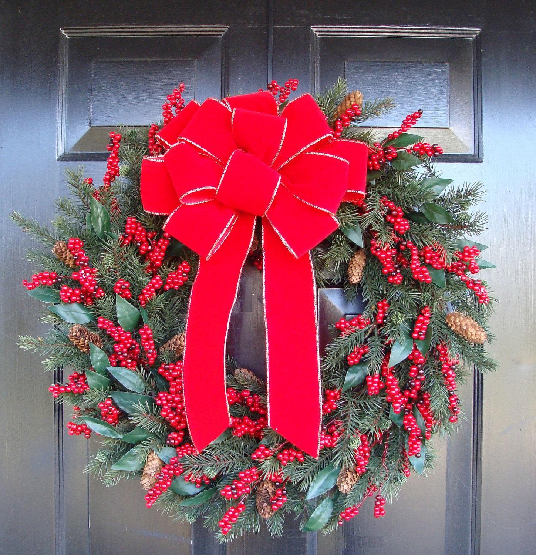 Large Holiday Bow Christmas Wreath Bow Christmas Bows