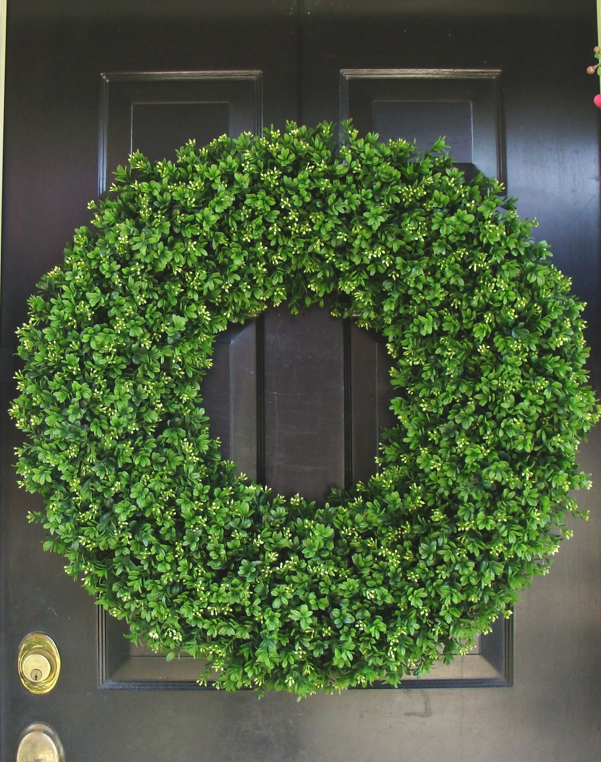 28 inch xxl artificial boxwood wreath oversized wreath for Decoration xxl