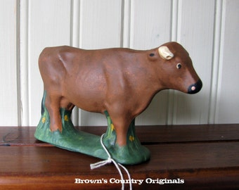 Chalkware Brown Steer CH56