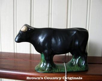 Chalkware Black Steer CH113